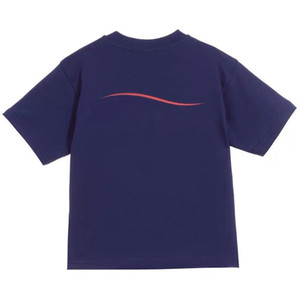 Fashion Kids Polo T-shirt Enfants manches courtes Stripes ondulées Baby T-shirt Boys Tops Tops Vêtements Letter Print Tees Girl Coton T-shirts