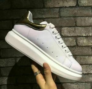 Plataforma LOGO de lujo Zapatos casuales clásicos Zapatos de skateboard para hombre y mujer Zapatillas Glitter Shinny Heelback Dress Shoe Chaussures de tenis