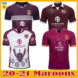 TAILLE S-5XL 20 21 Ligue Nationale de Rugby Queensland 2020 2021 QLD Maroons Malou Jersey Rugby 2020 QLD Maroons ÉTAT D'ORIGINE Rugby Jersey