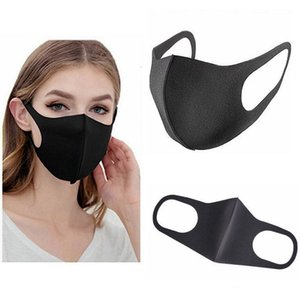 Máscaras lavable protectora de la cara Negro reutilizable hijos adultos de ciclo del polvo anti de la mascarilla del paño de algodón Respirador Máscaras Moda Boca FY9041