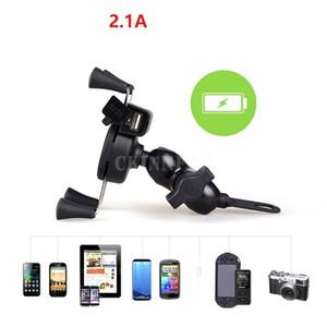 Iphone 6 6Plus için 50pcs / Lot X-Grip 2in1 Universal Araç Navigasyon Destek Motosiklet USB Şarj için GPS Telefon tutucu MP3