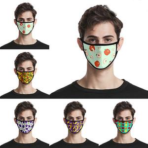 Las máscaras faciales reutilizables fruta colorida 3D Diseñador de impresión de algodón mascarilla máscaras de la puerta hacia fuera practicar deporte algodón de la manera Máscara diseñador
