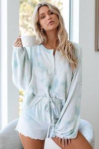 DHL Free For Pijama Tiedye Para Womens Pajama Korte Define Met Ronde Hals En Tie-Dye Tie Dye Pac Man T Shirt Silt em estoque