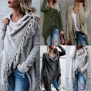 Abrigo ropa otoño e invierno transfronterizo Europa y los Estados Unidos grandes mujeres explosiones de comercio exterior borla suéter de punto coa