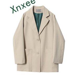 Xnxee Herbst und Frühling 2019 neue koreanische Art-Klage-Jacken-Frauen Solid Color wilde Damen Jacke Langarm Damen Bekleidung