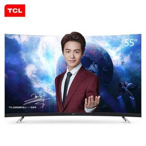 TCL da 55 pollici 34-core 4K + HDR ultra-hd AI intelligenza artificiale discorso superficie curva TV calda nuova di trasporto TV ultra-sottile gratis!