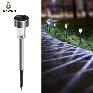 컬러 휴대용 태양 정원 램프 교체 LED 야외 조명 풍경 IP65 방수 스테인리스 태양 광 잔디 라이트 자동
