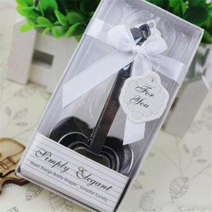 Acero inoxidable en forma de corazón cuchara dosificadora Conjunto de amor de favores de la boda regalos de la cocina cuchara dosificadora en caja de regalo
