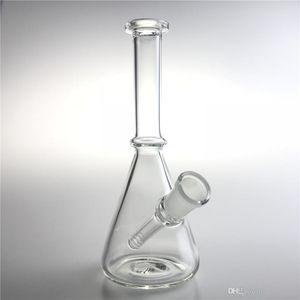 New 6 Inch 14mm Female Glass Recycler Bongs Straight Mini Oil Rigs Dab Beaker Bong Glass Water Bongs for Smoking