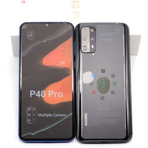 Unlocked Goophone 6.5 inch P40 Pro 1G RAM 8G ROM Show Fake 8GB 128GB Show 4G lte Android CellPhone with Retail Box