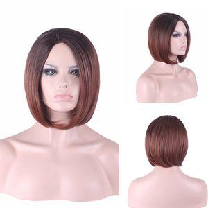 Fornecimento de Comércio Exterior Modelos de explosão na Europa e América Carve peruca Bobo cabeça reta cabelo Chemical Fiber Caps Wig New Spot