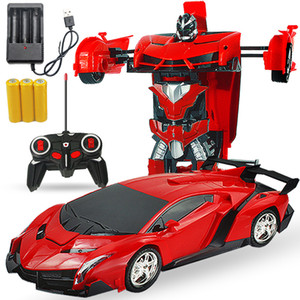 jouet pour enfant déformé voiture charge par induction de commande à distance transformé King Kong voiture robot de commande électrique à distance ordre d'accueil