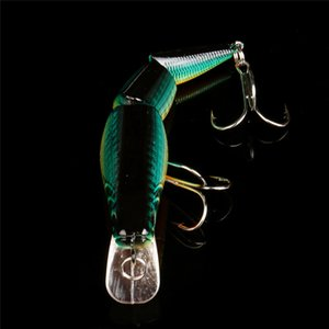 2018 Multi Jointed Fishing Lure Bait Bass Crank Minnow Swimbait Life Like Pike NEW Safety & Survival Z907