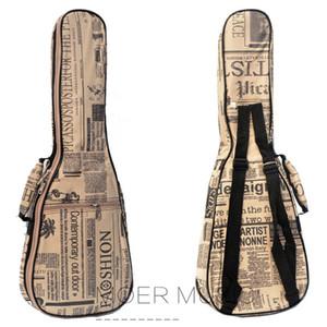 21 23 26 inç Ukulele Çanta Kılıf Soprano Konseri Tenor UKU Tuval Vaka Sırt Çantası Taşınabilir Mini 4strings Gitar Gig Bag Kılıf