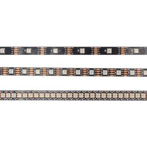 LED WS2813 Bande adressable (fils à double signal, meilleure que la bande WS2812B) 30/60 / 144LEDs / m DC5V WS2813 Bande de pixel à LED RVB 5050