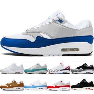 air max airmax 1 Lusso Università Blu uomini donne scarpe da corsa del progettista 1 Uno Parra Puerto Rico atomica Teal Era Windbreaker Patch mens Trainer Sneakers