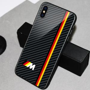Copertura del telefono AMG nuovo telefono cellulare di marca specchio design a conchiglia marche di auto Logo Tel Vetro caso per Iphone 11Pro X 6 6s 7 8 più