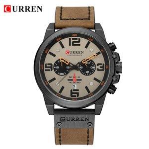 CURREN8314 New Fashion Simple Multifunctional Belt Orologio sportivo da uomo con datario al quarzo impermeabile per il tempo libero Orologio maschile