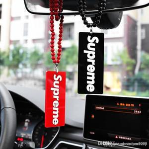 Encantos de lujo del coche colgante de acrílico de moda que rabia automóvil espejo retrovisor del Acabado Se colgantes Suspensión Adornos regalo