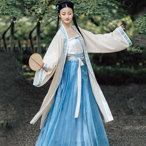 Ethnique chinois traditionnel Robe Hanfu Chanson moderne chinois Dynasty Costume Vêtements anciens danse folklorique femmes cosplay Hanfu DWY3908