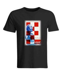 Luka Modric Croacia futbolista Soccerer camisa tapa de la camiseta de la apariencia vintage Camiseta caliente Nueva manera del envío libre 2018 camisas Officia