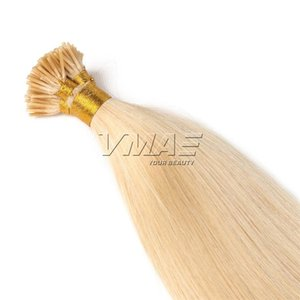 European Russian 1g Strand 50g Natural #1B #4 #613 Straight Keratin Fusion I Tip Pre Bonded Remy Human Hair Extensions