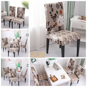 Flowers Party Wedding Floral Printing Chair Cover Home Dining Multifunctional Spandex Removable Elastic Slipcovers Seat Covers