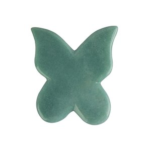 Оптовая Natual зеленый агат Dongling Джейд Guasha Совет Природный камень скребок Гуа Ша красоты Инструменты Бесплатная доставка