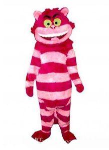 2019 sconto vendita fabbrica Red Cheshire Cat Mascot Costume Fancy Birthday Party Dress Costumi Carnevale di Halloween
