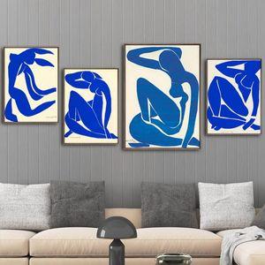 Home Decoration Stampa su tela Foto Wall Art Poster Canvas stampe Pittura francese Henri Matisse Blue Nude