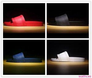 with hot brand Men Beach Slide Sandals Medusa Scuffs Slippers Mens white Beach Fashion slip-on designer sandals US 7-12