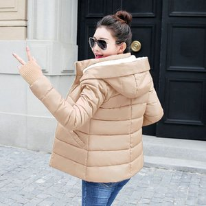 New Parkas and Jacket for Women 2020 Hooded Autumn Winter Jacket Women With Gloves Coat Warm Wool Hat Winter Female