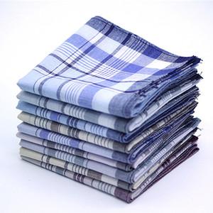5pcs multicolor de la tela escocesa de la raya de los hombres de negocios de bolsillo en el pecho cuadrados toalla de bolsillo Pañuelos Hanky pañuelos bufandas 100% algodón