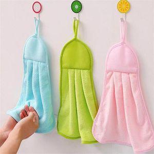 Solid Hand Towel For Kids Chidren Microfiber Absorbent Hand Dry Towel Kitchen Bathroom Soft Plush Dishcloths Non-stick Oil
