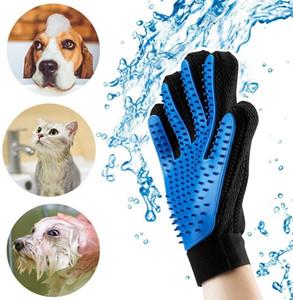 Pet Grooming guanto di rimozione dei capelli pennello delicato deshedding efficienti Guanti Pet Mitt massaggio dell'animale domestico