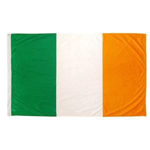 Envío gratis 100% Poliéster 90 * 150 cm verde blanco naranja nacional irlandés, es decir, Irlanda Bandera para la decoración