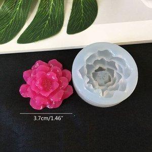 DIY цветок Силиконовые формы смолы камелии Peony Daisy Цветок лотоса Jewlery Making