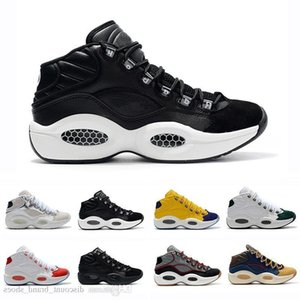 Zapatos de diseñador Pregunta de Allen Iverson Medio Q1 Baloncesto Respuesta 1s Zoom Zapatillas deportivas para hombre Athletic Luxury Elite Eu40-46