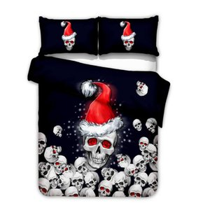 3D Merry Christmas elk Bedding Sets Duvet Cover Set 2 3pcs Double Queen King size Bedclothes BedLinen set (No Sheet No Filling)