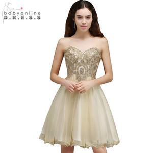 Ucuz Mezuniyet Elbise Seksi Backless Şifon Dantel Mezuniyet Elbiseleri Kısa 8. Sınıf Gelinlik Modelleri Vestido De Festa Curto CPS665