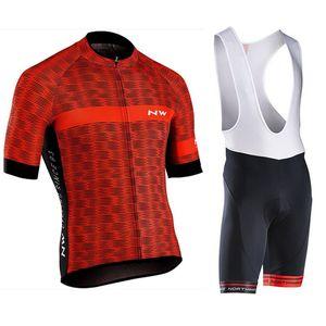 NW 2019 verano ciclismo Jersey manga corta de manillar ropa de la bicicleta ropa Ciclismo Uniformes ropa de ciclo del babero Maillot # 7