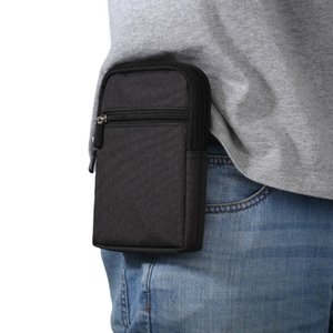 Outdoor Pouch Leisure Hip Waist Belt Bag Wallet Purse Mobile Phone Case Zip Pack Pocket for Huawei Mate 10 20 Honor 8 9 5X 6X 8X
