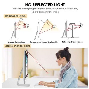 3 Renk USB Powered Bilgisayar Monitörü Lambası Ekran Bar Işık Göz sevecen e-Okuma LED Işık 10 Parlaklık Ayarlanabilir