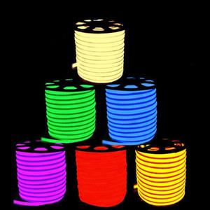 LED bande de néon flexible cordon lumineux LED lumières IP68 Mini LED bande 220 V 110V flexible ruban pour l'éclairage extérieur enseigne au néon