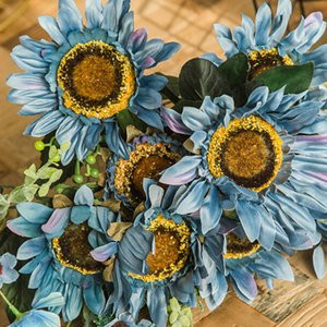 Big Sunflower Bunch Decorativo Artificial Sunflower Heads Fake Bunch Party Decoración Props Wedding DIY Crafts