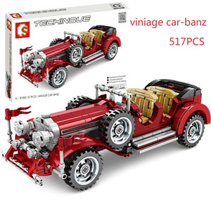 701650 Viniage car-banz pull-back vehicle series compatible Boy's puzzle assembling and building block toys Gift for children