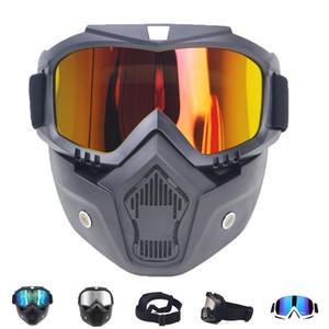 الرجال النساء للتزلج على الجليد قناع الثلج التزلج نظارات واقية صامد للريح موتوكروس نظارات نظارات السلامة مع الفم تصفية