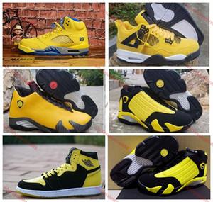 Air Jordan aj  xshfbcl 2020 Mens 1 4 5 11 12 14 scarpe da basket Bumblebee Giallo Nero formatori Sneakers Sport Cowgirl Ferrary Jumpman des chaussures