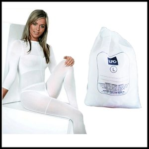 STOCK Branco / Rolo Preto LPG corpo Costume Massagem vácuo emagrecimento Suit Para Velashape Terapia Máquina CE / DHL frete grátis