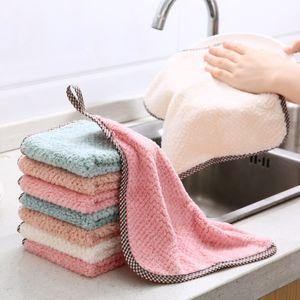 فوط المطبخ الإبداعية متعدد الألوان الاختياري المرجان المخملية سماط منشفة منشفة Hangable لم يتخل الصوف ماص تنظيف